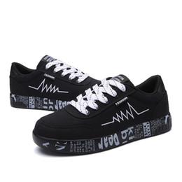 Lace Vulcanized Canvas Shoes Australia - 2019 Fashion Women Vulcanized Shoes Sneakers Ladies Lace-up Casual Shoes Breathable Walking Canvas Shoes Graffiti Flat
