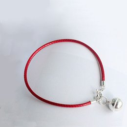 La MaxZa 925 Sterling Silver Small Bell Charm Classic Red Rope Bracelets  Red Thread Line String Adjustable Bracelets For Women b6d3e2c5a71a