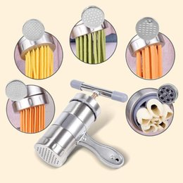 pasta cutters Canada - Manual Stainless Steel Noodle Maker Press Pasta Cutter Kitchen Machine Tool