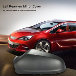 H Case Australia - Freeshipping Right Left Rearview Mirror Cover Housing Casing Side View Mirror Protection Cap for Vauxhall Opel Astra H 2004 - 2009 Europe
