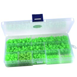 beads stoppers 2019 - Fluorescent Bead Luminous Column Float Ball Stopper Space Beans Fishing Accessories Tools Set discount beads stoppers