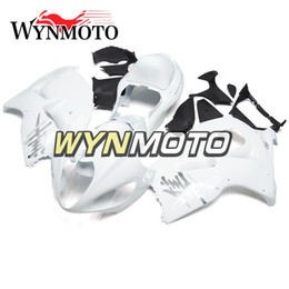 China Full White Motorcycle Fairings For Suzuki GSXR1300 Hayabusa 1997 1998 1999 2000 2001 2002 2003 2004 2005 2006 2007 ABS Plastic Injection Kit cheap plastics kits for hayabusa suppliers