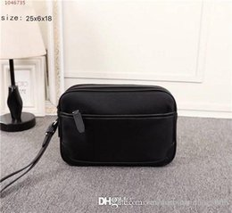 Business Hand Bags Australia - Men hand fashion business shoulder bag Messenger bag fashion Small clutch Black red stripes beach bag new listing