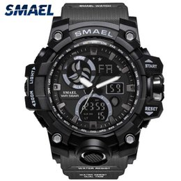 $enCountryForm.capitalKeyWord Australia - Smael Fashion Sport Men Watch High Quality Dual Display LED Wrist Watch Waterproof Mens Clock Watches reloj