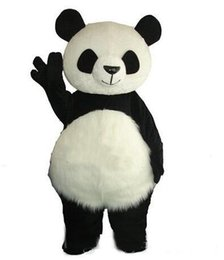 $enCountryForm.capitalKeyWord UK - Long Hair Panda Bear Mascot Costume Adult Mascot Men's for Party and Valentine's Day Thanksgiving Day Christmas