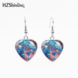 $enCountryForm.capitalKeyWord Australia - Free shipping jewelry New Fashion Glass Cabochon Fish Hook Stainless Steel Earrings Heart Shaped Jewelry Beautiful Gifts