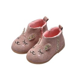 $enCountryForm.capitalKeyWord Australia - Child Winter Snow Boots Shoes Warm Plush Soft Sole Cartoon Rabbit Design Girls Boots Kids Snow Boot Footwear 906X40