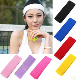 Heads Bands For Girls NZ - Hot Sale Designer Elastic Headband for Women Men Fashion Famous Brand Head Hair Sweat Bands For Woman Girl Yoga Gym Stretch Sweatband