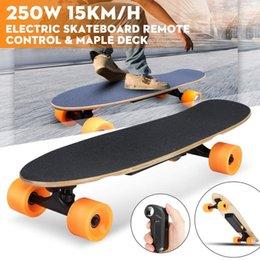 Planche à roulettes électrique à quatre roues Longboard Skate Board Maple plate-forme sans fil à distance Controll Skateboard Roues pour enfants adultes en Solde