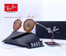 Stylish Glasses Women NZ - Designer Sunglasses Luxury Sunglasses Fashion Polarized for Men Women Glass UV400 Stylish Brand with Box and Logo Rays2447 Superior Quality
