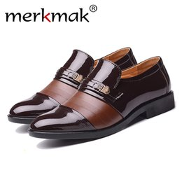 Business Man Shoe Australia - Merkmak Men Formal Shoes Winter Men Dress Shoes Brand Leather Classic Business Gentleman Plush Plus Big Size 38-48