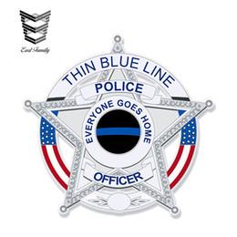 $enCountryForm.capitalKeyWord Australia - wholesale 20pcs lot Police Swat Decal - Thin Blue Line Vinyl Stickers Car Styling Waterproof Decal Motor Car Accessories 13cm x 13cm