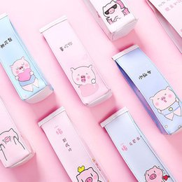 $enCountryForm.capitalKeyWord NZ - Pig Milk Bottle Pencil Case Cute Pink Panther Pen Bag Box Stationery Pouch Gift For Girls Material School Supplies Escolar