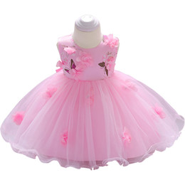 $enCountryForm.capitalKeyWord UK - 2019 New Lace Little Princess Dresses Summer Solid Sleeveless Tulle Tutu Dresses For Girls Clothes Party Pageant Vestidos Y19061501