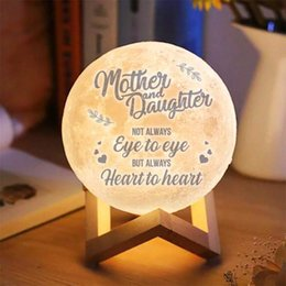 projector 3d Australia - Photo Text Custom 3D Printing Moon Lamp Nightlight Customized Personality Lunar USB Charging Night Lamp with Wooden Holder