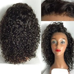$enCountryForm.capitalKeyWord Australia - Top quality Brazilian Hair Glueless Front Lace Wigs Brazilian Deep Wave Human Hair Braiding Full Lace Wig with baby hair for black woman