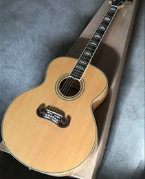 Top acousTic guiTars online shopping - 2019 New Arrival Quality AAA Custom Shop Burlywood Solid Spruce Top Venner Tiger Flamed Maple Sides Back Acoustic Guitar