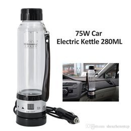 $enCountryForm.capitalKeyWord Australia - New 12V 24V 75W Car Electric Kettle 280ML Auto Heating Cup Travel Heated Cup Hot Water Heater For Coffee Tea Mug with Temperature Control