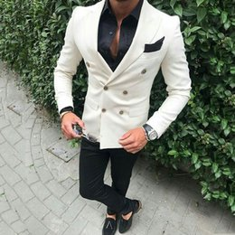ClassiC suit designs for men online shopping - New Fashion Ivory Men Suits for Wedding Casual Groom Tuxedo Prom Party Peak Design Best Man Outfit Groomsmen Attire Piece Terno Masculino