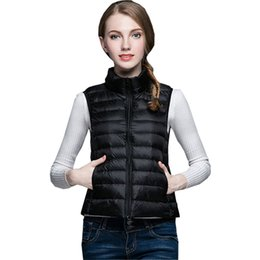 5b0c4a3e836 Black Flared Coat UK - New Women Winter Ultra Light White Duck Down Vest  Sleeveless Coat