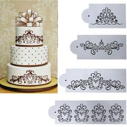 $enCountryForm.capitalKeyWord NZ - 4pcs Flower Cake Cookie Mold Diy Fondant Cake Decorating Tools Baking Stencil Wedding Cake Decoration Supplies
