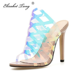 ShoeS for nightclub online shopping - ElisabetTang High Heels Women s Slides Sexy Thin Heels Women s Shoes Summer Sandalias New Fashion Size Shoes For Nightclub