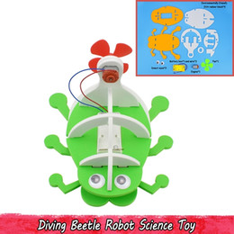 Discount foam toys material - Diving Beetle Robot Toys for Kids Teens Science Physical Experiment Learning Material Handmade Assembling Model Kit Crea