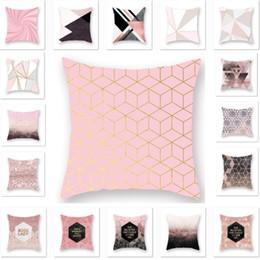 $enCountryForm.capitalKeyWord NZ - New Rose Gold Geometric Pillowcase Cushion Cover Glamour Square Pillow Case Cushion Cover Home Sofa Car Decoration HH7-2019