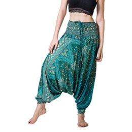 Harem Jumpsuits Women Australia - Womail yoga leggings Women Summer Loose Trousers Baggy Aladdin Jumpsuit Harem Pants sport leggings #A40 #616799