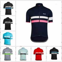 Wholesale 2020 summer RAPHA team men Cycling jersey Short Sleeve tops Ropa Ciclismo Mountain bike breathable Quick-Dry sportwear R62425