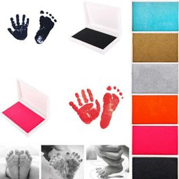 $enCountryForm.capitalKeyWord NZ - 1 Piece Baby Handprint Footprint Imprint Kit Inkpad Non-Toxic Newborn Souvenirs Casting Ink Pad Infant Clay Toys Cute Gifts