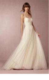 $enCountryForm.capitalKeyWord Australia - 019 new elegant beige wedding dress fashion backless sexy strap travel bridal gauze high quality mesh fabric long section Wedding dress