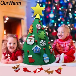 Best Gift For Xmas Australia - DIY Felt Christmas Tree Best Gift for Kids New Year Supplies Door Wall Hanging Ornaments Xmas Home Decoration