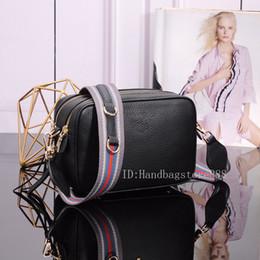 Camera Shoulder Strap Australia - High quality fashion women MICHAEL Tom handbags lady fashion trend classic striped strap shoulder Messenger bag camera bag