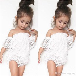 $enCountryForm.capitalKeyWord Australia - INS Princess Infant Baby Rompers Summer Design Girls Clothes Lace Fly Sleeve Jumpsuits Toddler Outfits Cotton Bodysuits Baby Climb Clothing