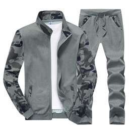 $enCountryForm.capitalKeyWord Australia - New Spring Camouflage Tracksuit Mens Set Sportswear 2 Piece Set Sporting Suit Jacket+pant Plus Size 4XL Men Clothes Track Suit