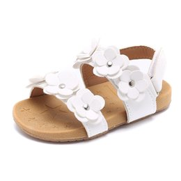 Girls Beach Sandals Shoes Australia - Cozulma Summer Girls Flower Beach Sandals Baby Toddler Kids Anti-slip Roman Sandals Children Cut-outs Slippers Shoes Y19051303