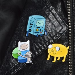 Wholesale African Shirts Australia - Adventure Time BMO pins Jake brooch Enamel Pins Brooch Lapel Pin Clothes Badges brooches for shirt Kids Gift jewelry drop shipping