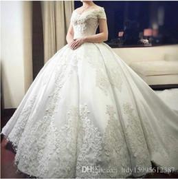 $enCountryForm.capitalKeyWord Australia - 2019 New Luxury V-neck Ball Gown Wedding Dresses Vintage Applique Vestido De Novias Queen 093