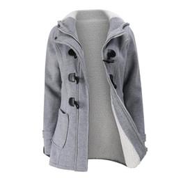 $enCountryForm.capitalKeyWord UK - Winter Horn Button Jacket Coat New Long Parkas Female Womens Thick Cotton Warm Jacket Womens Outwear Parkas Plus Size Coat 2018