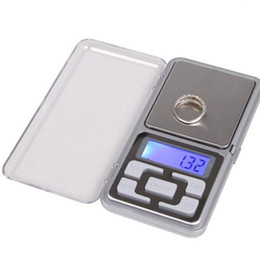 electronic digital jewelry scales UK - Digital Scales Digital Jewelry Scale Gold Silver Coin Grain Gram Pocket Size Herb Mini Electronic backlight 100g 200g 500g LX6451