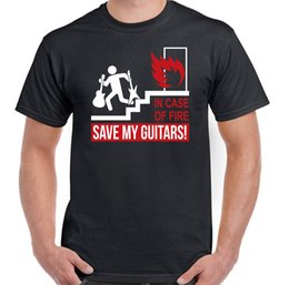 Discount red acoustic electric guitar - Case Of Fire Save My Guitars Mens Funny Guitarist T-Shirt Acoustic Electric