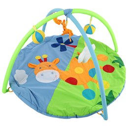 95992d383fa Baby Soft Play Mat Deer Gym Blanket with Frame Rattle Crawling Toy  Educational Fitness Bracket Toys Game Mats Kids Xmas Gifts VB