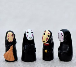 miyazaki action figures Australia - Studio Ghibli Spirited Away No Face Man PVC Action Figure Miyazaki Hayao Anime Kaonashi Model 3.5cm Decoration Doll Kids Toys