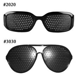 New Fashion Style 1 PCS Unisex Glasses Anti-fatigue Stenopeic Pinhole Eyewear Eyesight Improve Vision Care Sunglass on Sale