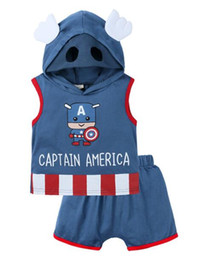 $enCountryForm.capitalKeyWord Australia - New Designer Baby Boy girl Clothes Set Hooded Vest Top + Shorts 2Pcs Outfits Cartoon Kids Clothing Summer Childrens Suits