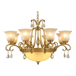 $enCountryForm.capitalKeyWord Australia - Luxury K9 crystal pendant chandelier lamps living room bedroom pendant lights European copper crystal pendant chandeliers lighting fixture
