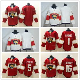 25b2e3f9c New AD Florida Panthers Jerseys 16 Aleksander Barkov Blank 1 Roberto Luongo  5 Aaron Ekblad Jersey Home Red Stitched White Ice Hockey Jerseys