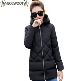 Long Padding Jacket Australia - 2017 New Winter Female Cotton-padded jacket Women Slim Long Large size Parkas Women Solid color Fashion Hooded Warm Jacket X1024