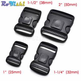 $enCountryForm.capitalKeyWord Australia - 10pcs lot Plastic Dual Adjustable Side Release Buckles Molle Tatical Backpack Belt Bag Parts Strap Webbing